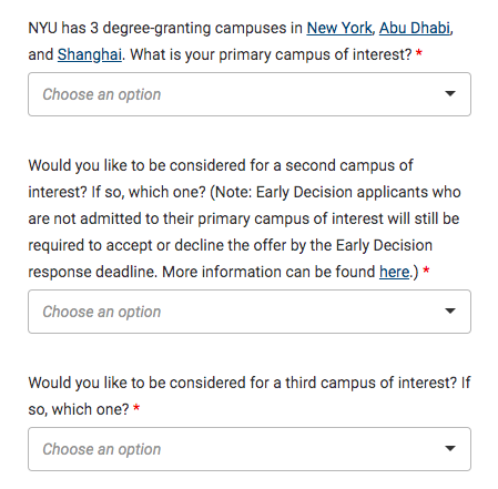how to get into NYU